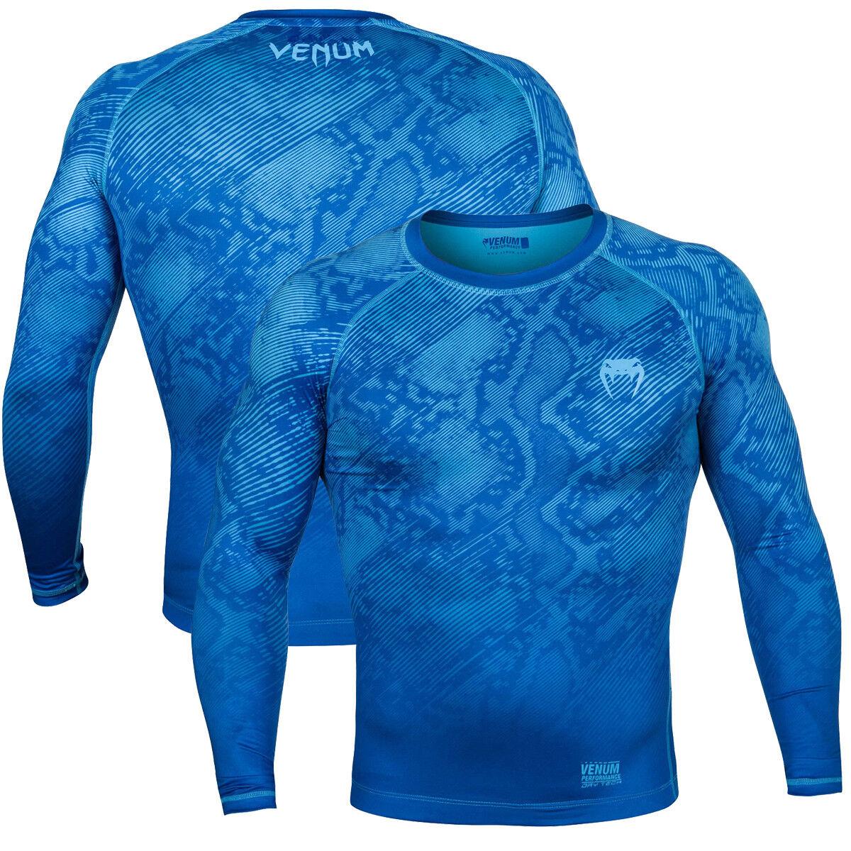 Venum Fusion Long Sleeve Compression T-Shirt - 2XL - Blau
