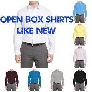 Warehouse-Sales-Open-Box-Regular-Fit-Berlioni-Italy-Men-039-s-Dress-Shirts