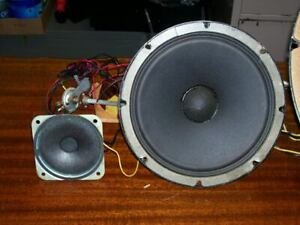 2 VINTAGE JENSEN SPEAKERS FROM A FISHER CABINET ,{RARE} 8 ...