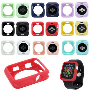 For-Apple-Watch-iWatch-Series-4-3-2-Bumper-Silicone-Protector-Case-Cover-38-44mm