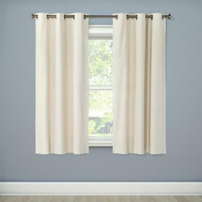 Windsor Light Blocking Curtain Panel Eclipse Cream 42 X 63 One Panel Black Out 885308393807 Ebay