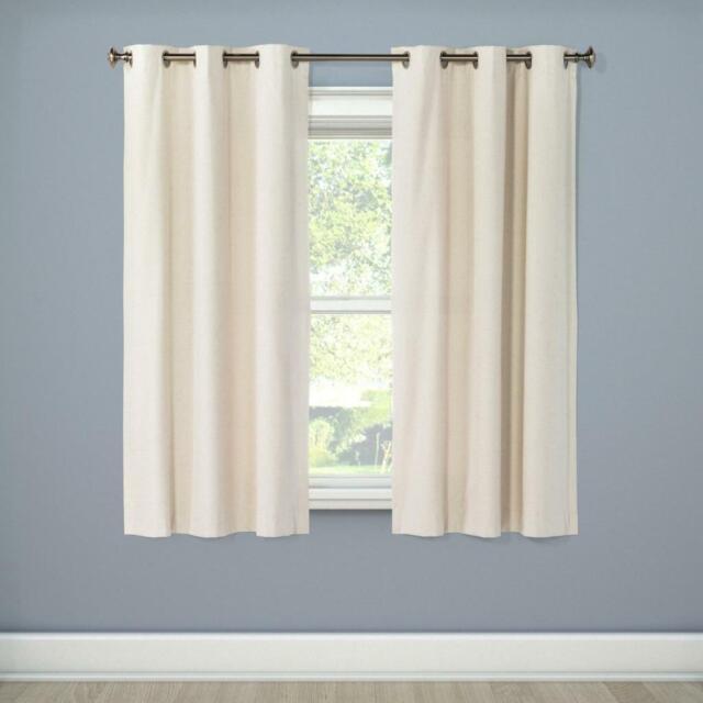 "Windsor Light Blocking Curtain Panel Eclipse Cream 42"" X"