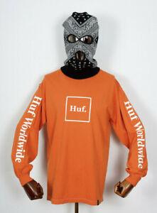 Huf Worldwide Skate Shoes Longsleeve LS T-Shirt Tee Domestic Box Rusty in M