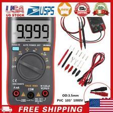 An8008 True Rms Digital Multimeter 9999 Counts Square Wave Voltage Ammeter S007