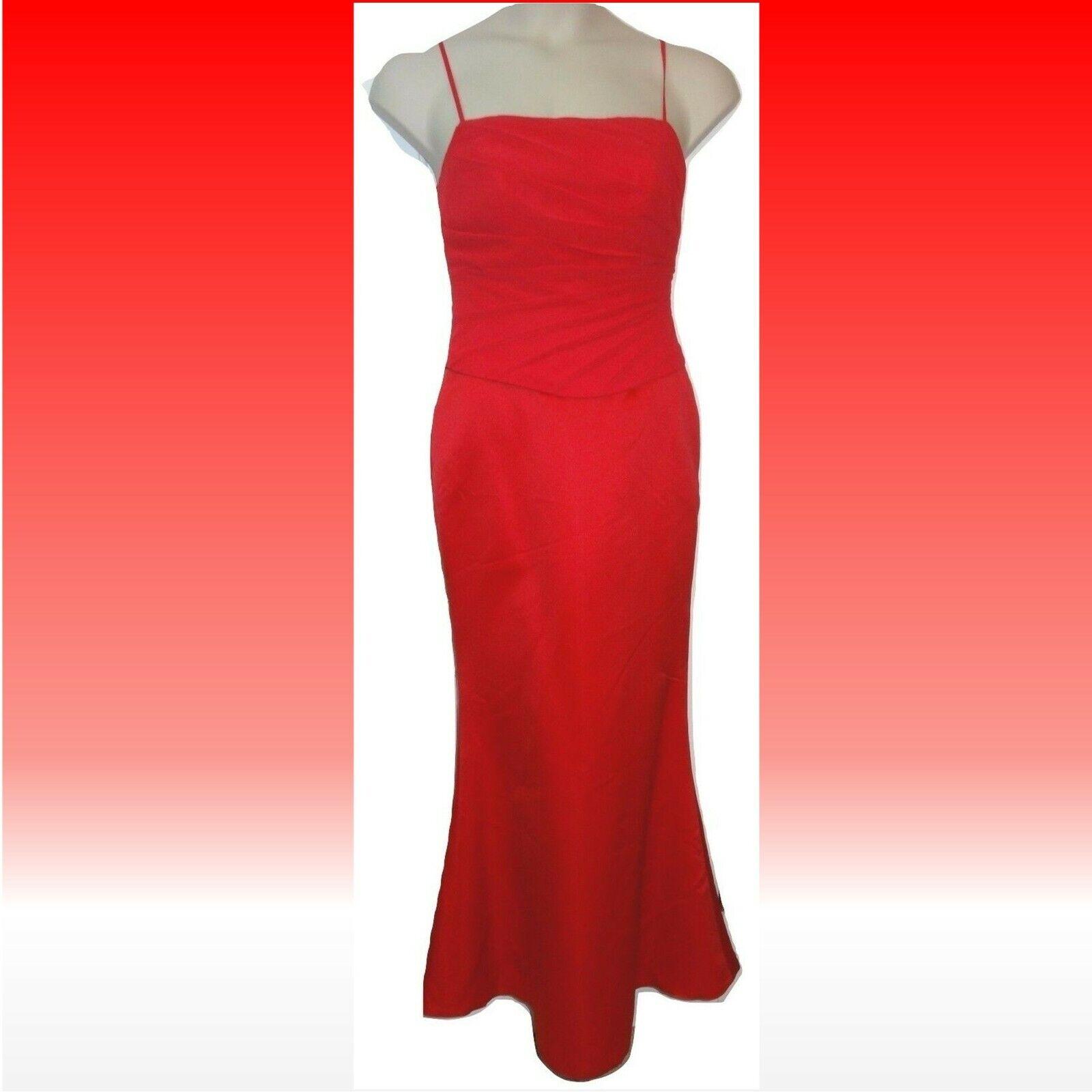 Allure Bridals Bridesmaid Dress Long Formal Red Watermelon Strapless Sz 10 NWT