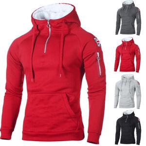 Détails sur Homme Extérieur Pull Hiver Sweat à Capuche Chaud Manteau Veste Sweatshirts