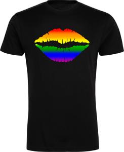 0d03cb82 Sexy Lips Rainbow T-Shirt - Festival Pride Bi Lesbian Trans LGBT ...