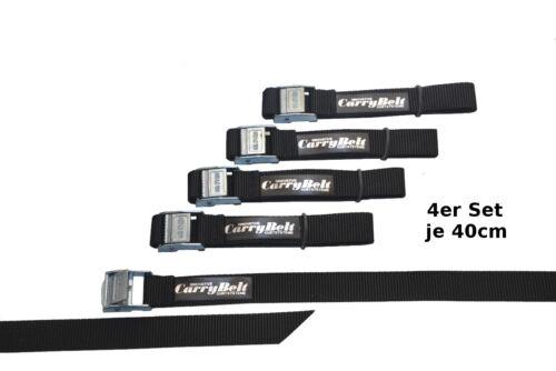 "Outdoor CarryBelt Spanngurt /""Reims20/"" 4er Set Sicherung Gepäck Fahrrad"