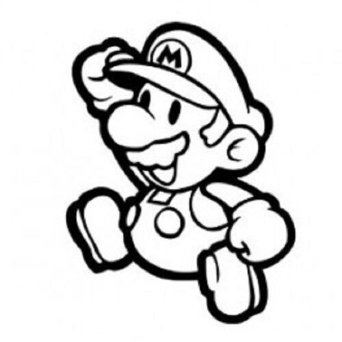 Super Mario Cool Funny Car Window Vinyl Decal Sticker Choose from 12 colors!