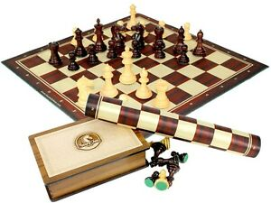 Image Is Loading Fierce Knight Staunton Rosewood Chess Set Pieces 3