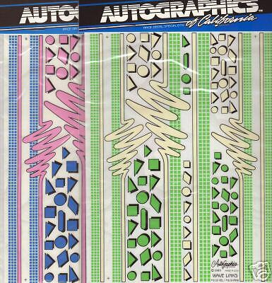 AutoGraphics #811 Grid N Lines YELLOW ONLY 1//10 scale decal