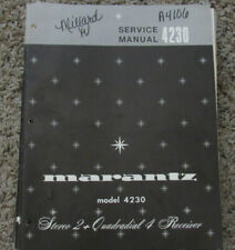 Marantz 4270 Stereo 2+Quadradial 4 Receiver COLOR User Manual Reproduction