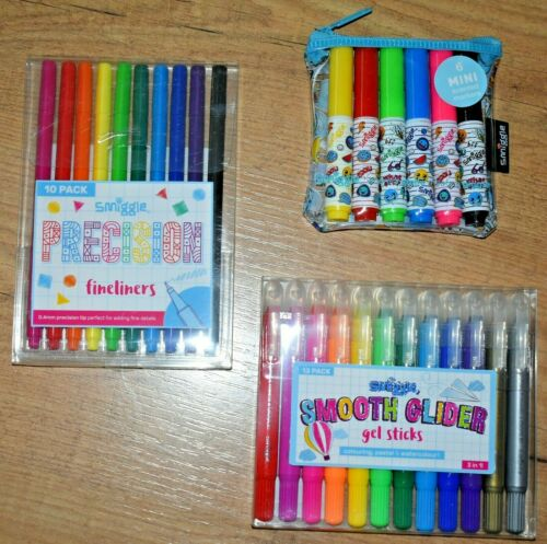 Smiggle Scented Markers Fine Liners pens Glider Gel Sticks Pastel watercolour