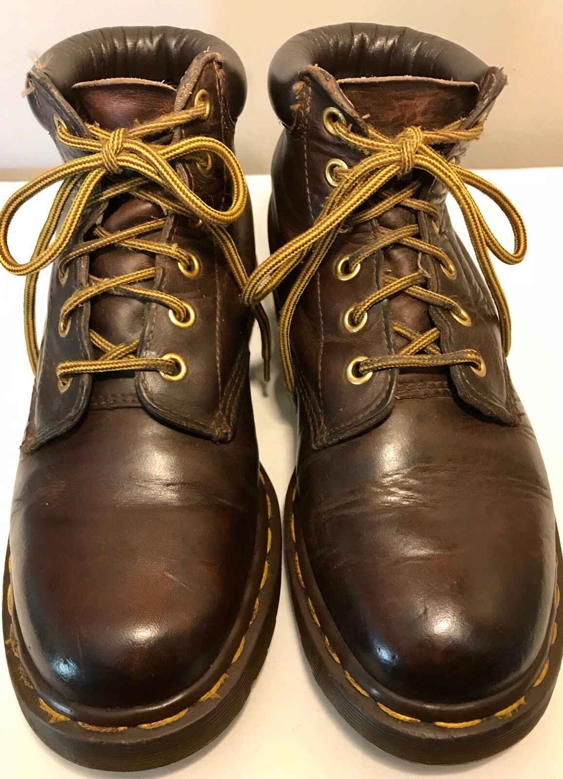 DOC MARTENS Air Wair 939 Ankle Boots Womens 5 US Brown Leather Lace Up