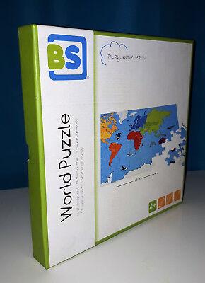 Affidabile Originale World Puzzle, Parti In Legno, Mappamondo
