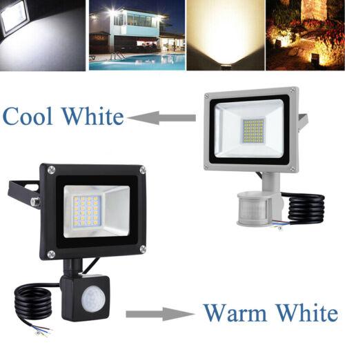 LED Security Floodlight PIR Sensor Motion 20W 30W 50W 100W Outdoor Flood Light