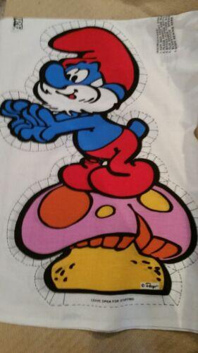 1980s Papa Smurf Fabric Pillow Pattern Peyo NEW Cut Sew /& Stuff