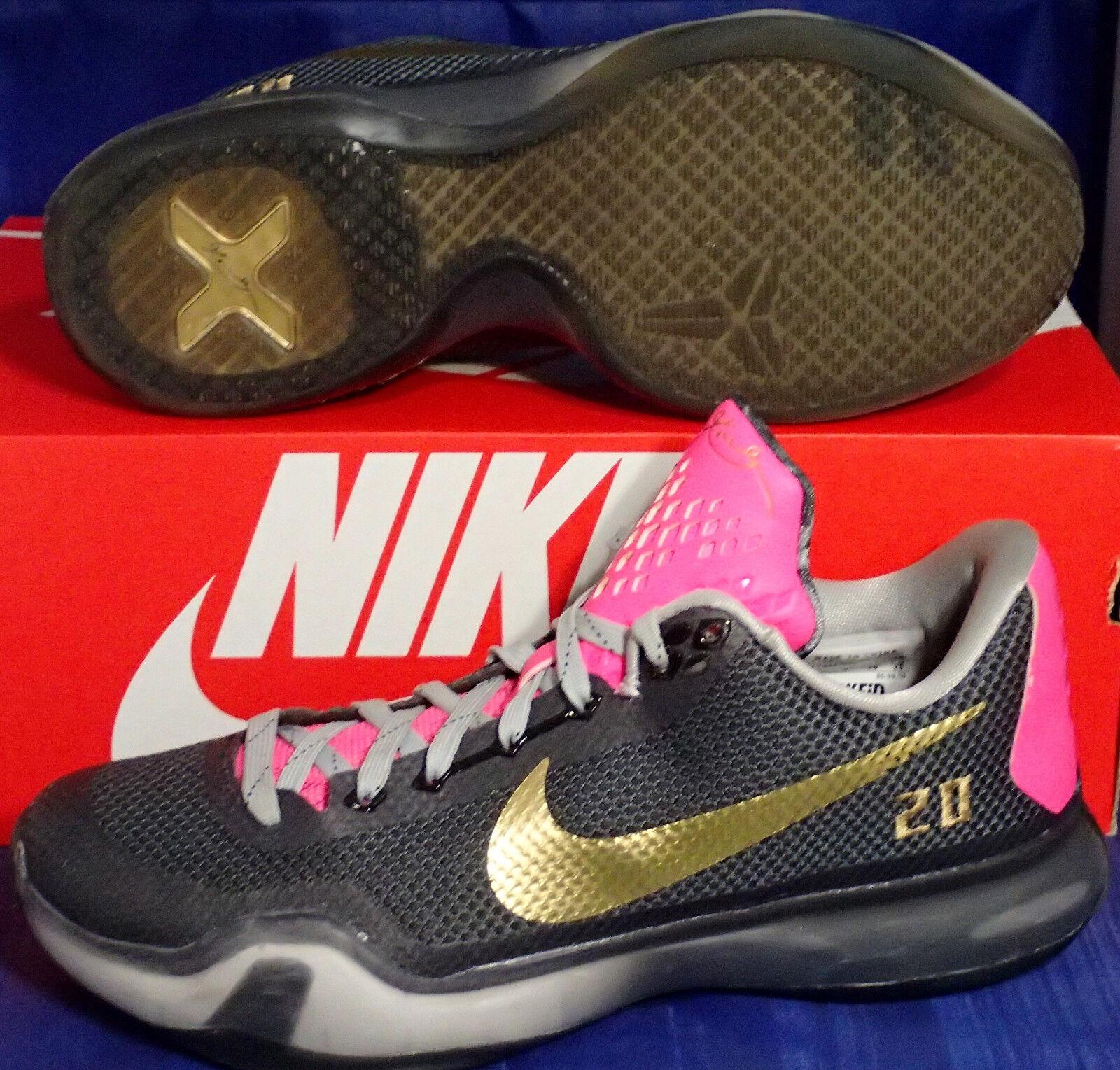 Nike Kobe X 10 iD Anthracite or rose SZ US US US 7      femmes SZ 8.5 ( 777411-992 ) c694bb