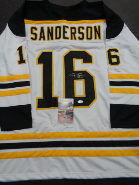 Derek Sanderson Boston Bruins Autographed Signed White Style Jersey XL coa-JSA-