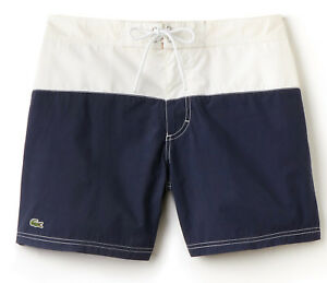49f317e651 NWT Lacoste Mens Colorblock Taffeta Board Shorts/Swim Trunks, MH7093 ...