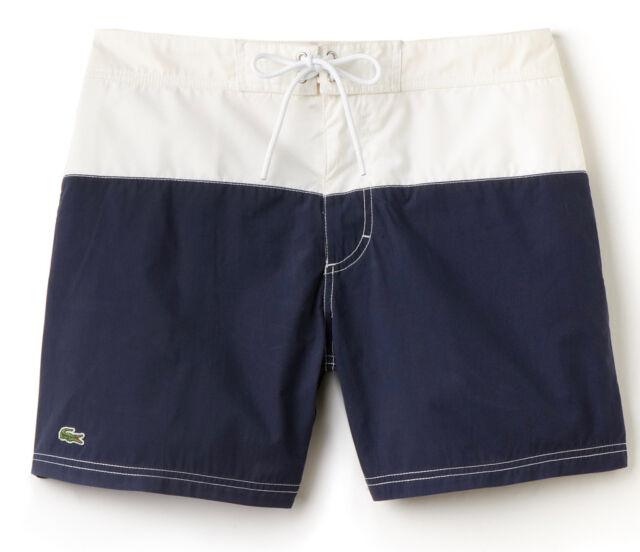 Lacoste Mens Classic Printed Serge Crocodile Striped Swim Shorts 30/% OFF RRP