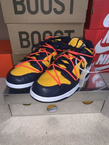 Nike Dunk Low ~ Off White Michigan ~ US 12