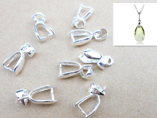 10x sterling silver finding bail connector bale pinch jewelry clasp lots 10x sterling silver finding bail connector bale pinch jewelry clasp pendant aloadofball Images