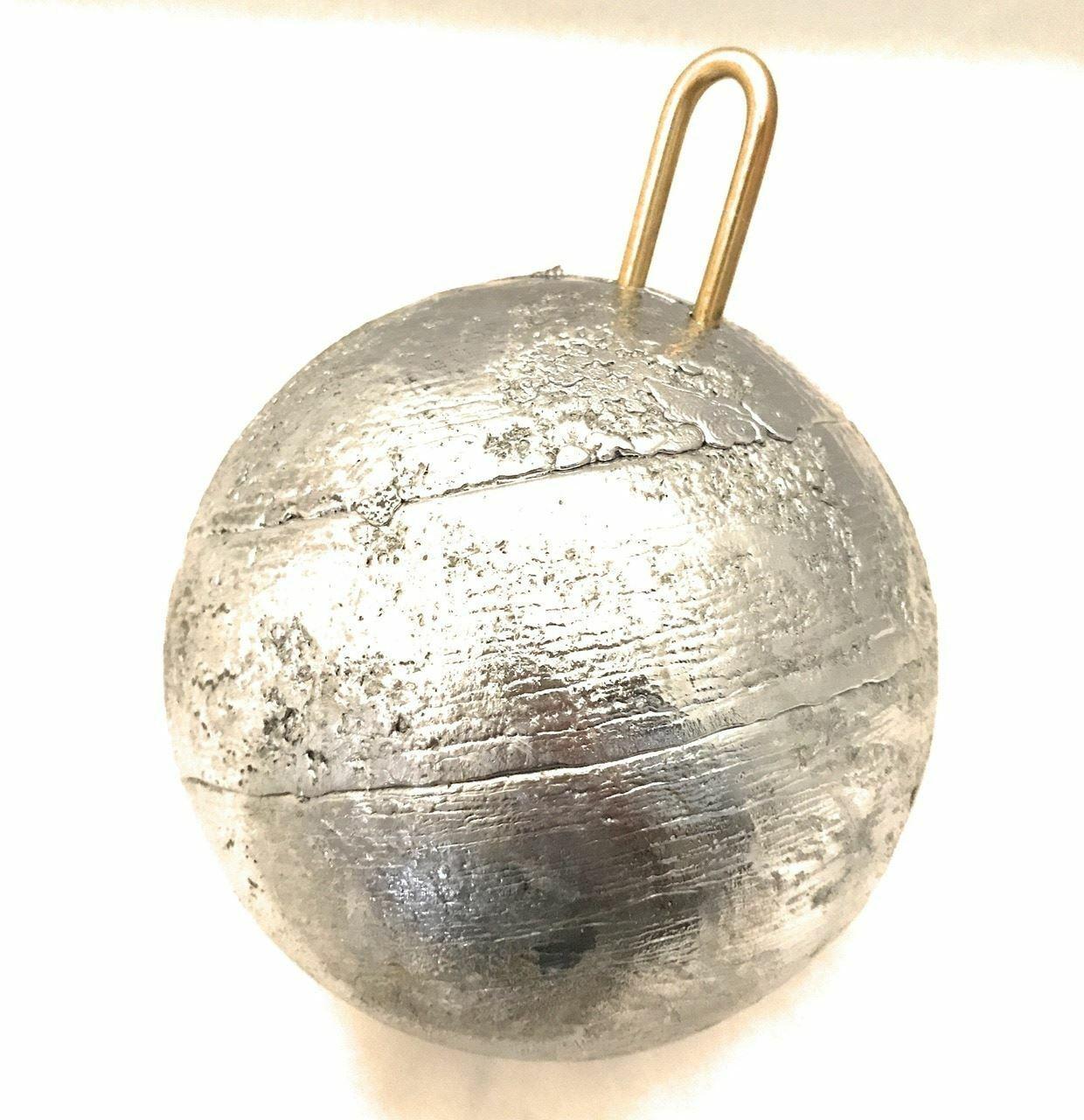 50 libra (800 onzas) Salmón plomo Cannonball Platina 6  de diámetro