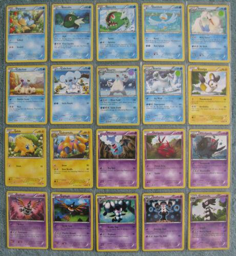Uncommon /& Common Cards Pokemon TCG B/&W Emerging Powers Holo Rare Part 2//4