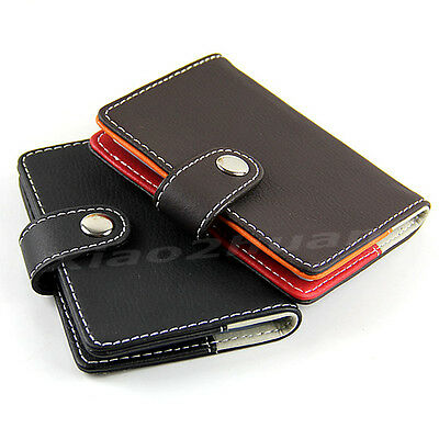 Popular Leather Business Name ID Credit Card Holders Cases Wallet 20 Slots New