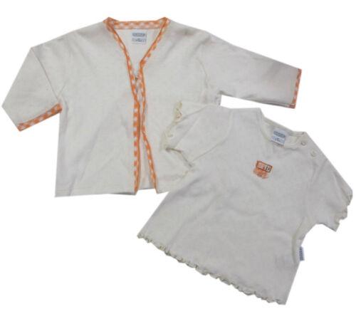 Kombination Natur  Baumwolle Mädchen Gr.62,80,86 Kanz Jacke T-Shirt 2-tlg