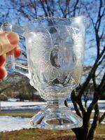 "c.1870-90 Victorian Antique EAPG Adams US Glass Baltimore Pear Creamer 5.25"""
