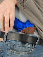 Barsony Brown Leather Iwb Gun Holster For Taurus Full Size 9mm 40 45