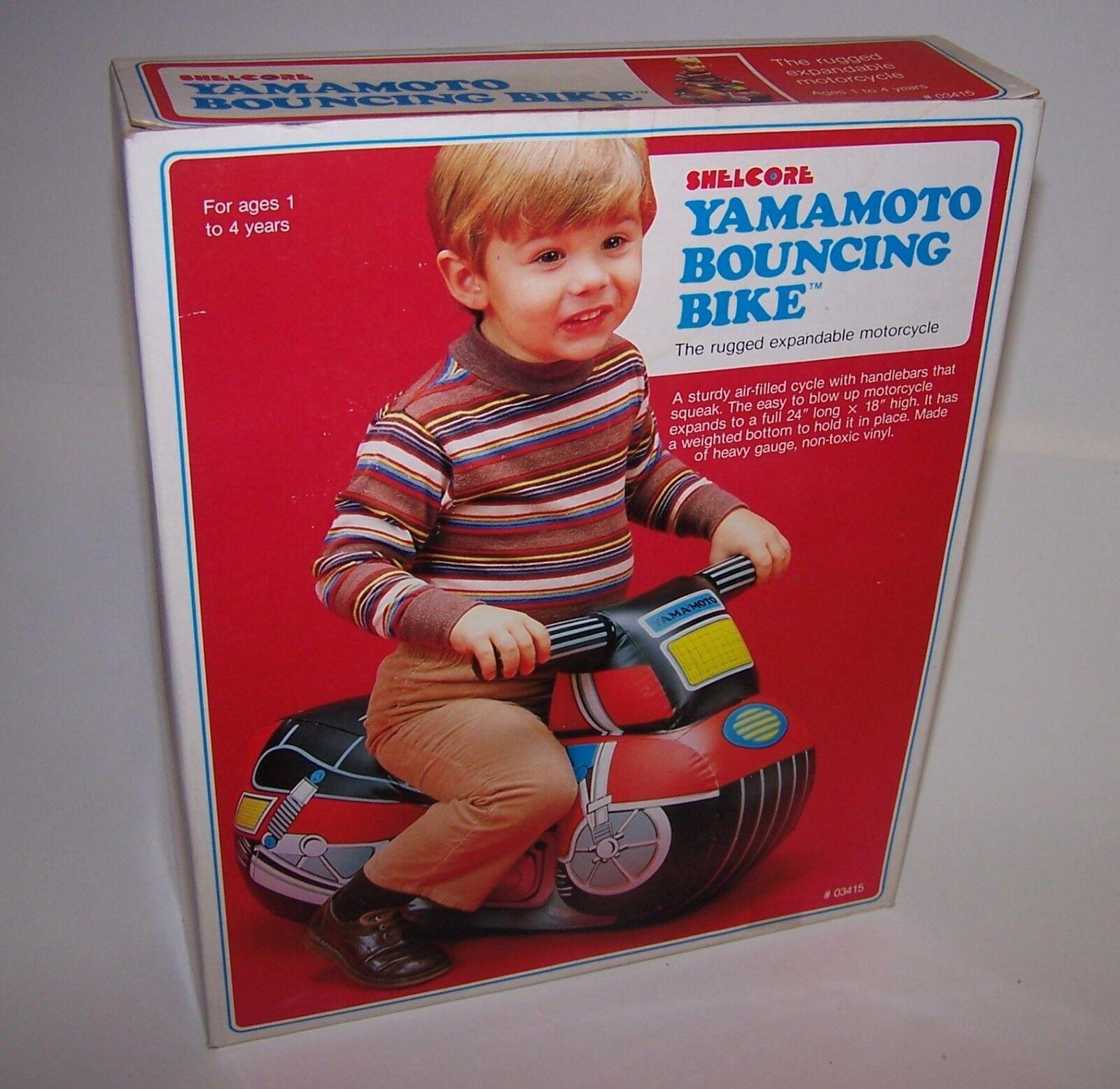 Shelcore Juguete ampliable Yamamoto rebotando Bicicleta Inflable explotar Nuevo en Caja 1984