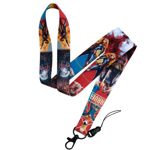 Captain Marvel Strap Neck Lanyard Badge ID Holder Phone Keychain 45x2cm