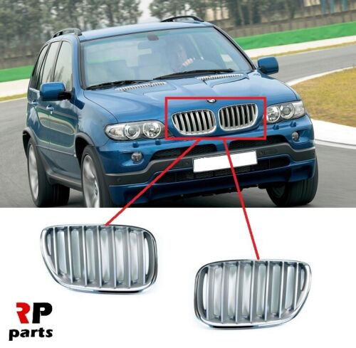 FOR BMW X5 SERIES E53 2003-2006 NEW FRONT KIDNEY GRILLE TITAN COLOR PAIR SET