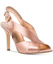 4a2598824618 Size 11 Michael Kors Becky Satin Soft Pink Rose Gold Sandal Pump HEELS