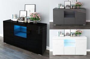 WestWood-PB-High-Gloss-Cabinet-LED-Bookshelf-Sideboard-Cupboard-Home-Unit-PHC03
