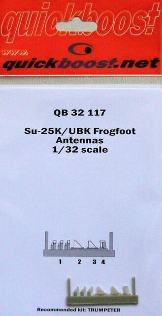 QuickBoost 1/32 Sukhoi Su-25K / Ubk Pata de Rana Antenas para Trumpeter #32117