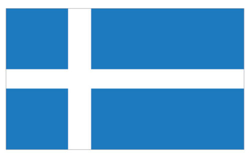 2 X SHETLANDS EMBLEM FLAG VINYL STICKERS CAR VAN TRUCK TAXI LORRY