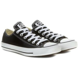 aa92e65563efd8 Image is loading Converse-All-Star-Chuck-OX-Black-Leather-132174C-