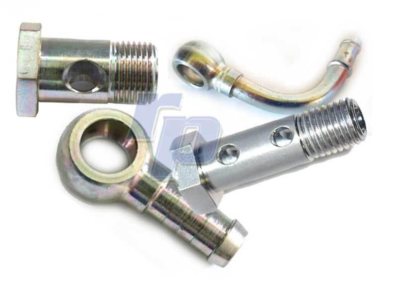 Ringnippel 14 mm 10 mm Schlauchanschluss für Hohlschraube raceparts cc Ringöse