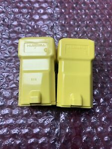 New Lot of 2 Hubbell HBL5369VY Valise Yellow Connector Body