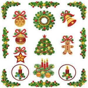 Christmas Tree Motifs Machine Embroidery Designs 5x7 Ebay