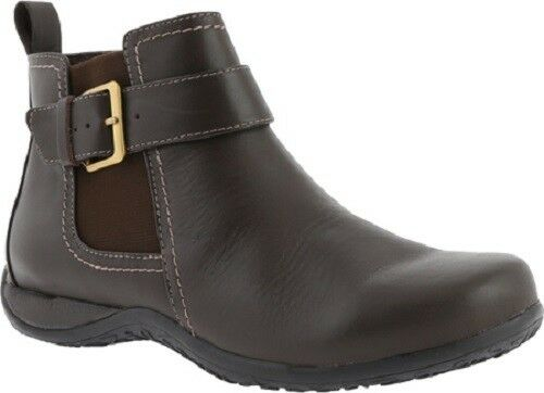 Vionic w  Orthaheel Orthotic Leather Ankle Boots - Adrie Dark Brown