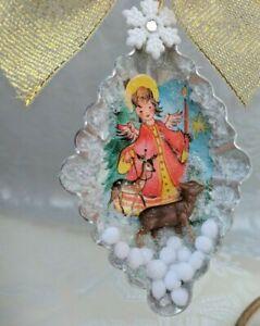 Tart-Tin-Diorama-Christmas-Ornament-Handmade-with-Vintage-amp-Supply-Items-DEER