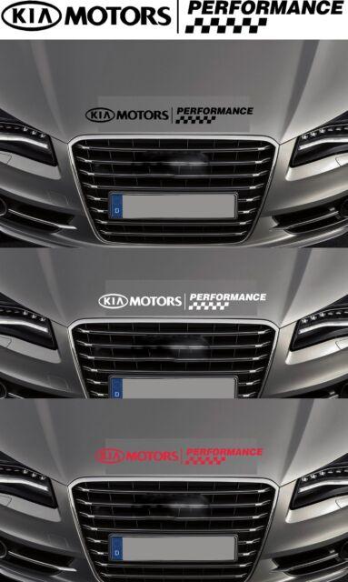 For KIA - 'KIA Motors Performance' - Bonnet Checks CAR DECAL STICKER 600mm long