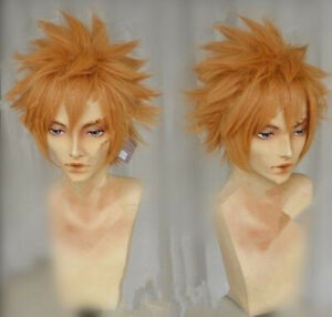 For Cosplay Fairy Tail Loki Leo Alice Orange Tea Fluffy Cosplay Cos Party Wig Ebay