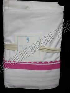 Pottery Barn Kids Ric Rac Cuff Ribbon Bed Sheets Set Full