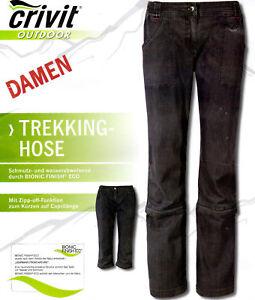 Billiger Preis großer Diskontverkauf neue Version Details zu CRIVIT Damen Trekkinghose Walkinghose Outdoorhose Wanderhose 2  in 1 Hose Gr 40